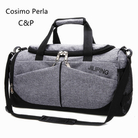 Sports Gym Fitness Duffle Bag for Men Nylon Travel Foldable Luggage Bags Large Crossbody Bag Fashion Weekender Overnight Totes