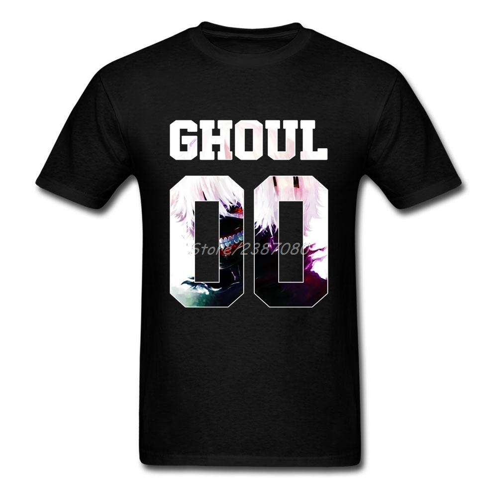 Tokyo Ghoul T Shirt Custom Short Sleeve Clothes 2017 Hot Couple Big Size Cotton Ken Kaneki T Shirts