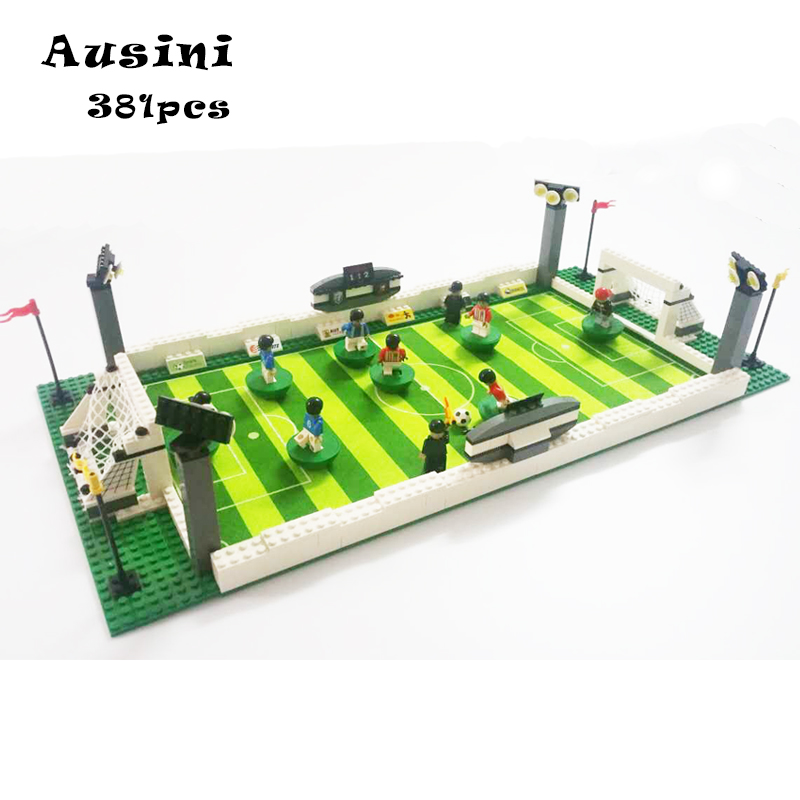 Model building kits compatible with font b lego b font CITY football series 199 3D blocks
