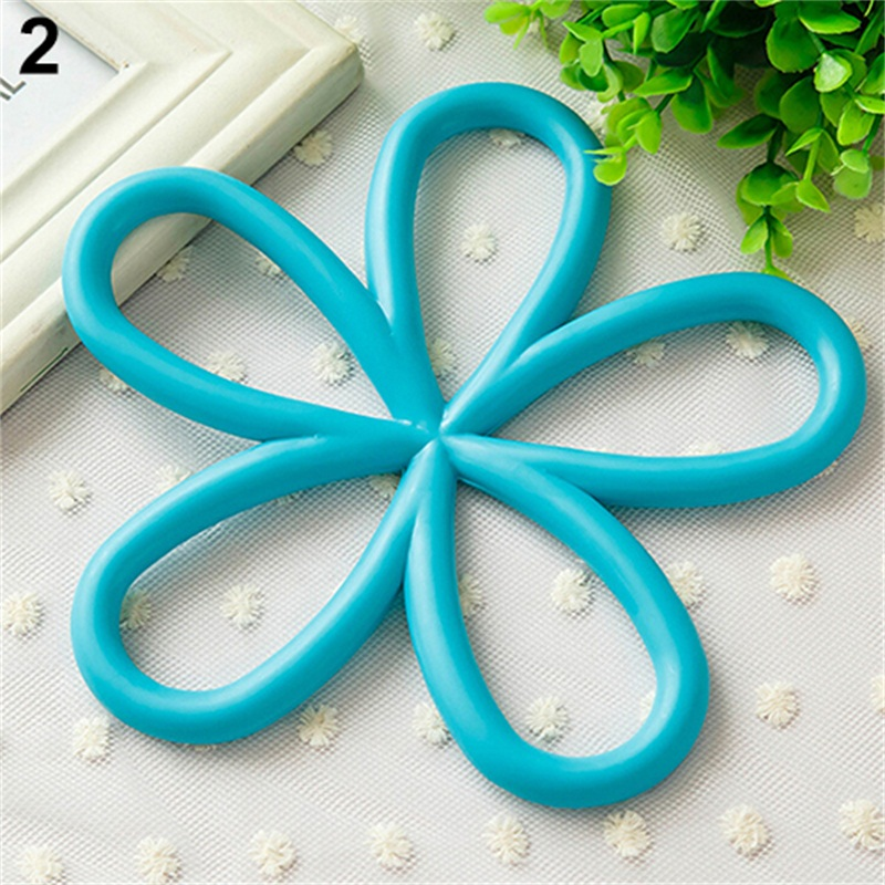 hot new flower shape pvc antislip table insulation mat heat pad kitchen placemats 91yp