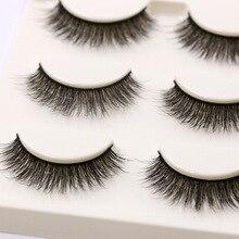 YOKPN Ngắn Tự Nhiên Lông Mi Giả Chéo Mềm Cottontail Stem Curl 3D Lashes Eye Thoải Mái Giai Đoạn Trang Điểm Mi Dày Giả