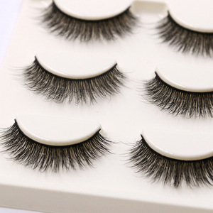 Image 1 - YOKPN Short Natural False Eyelashes Cross Soft Cottontail Stem Curl 3D Eye Lashes Comfort Stage Makeup Thick Fake Eyelashes
