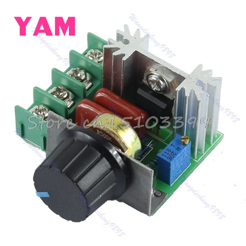2000W SCR Voltage Regulator Dimming Dimmers Speed Controller Thermostat AC 220V Drop Ship ac 50 250v 2000w motor speed controller adjustable electronic voltage regulator thermostat dimming dimmers regulator module