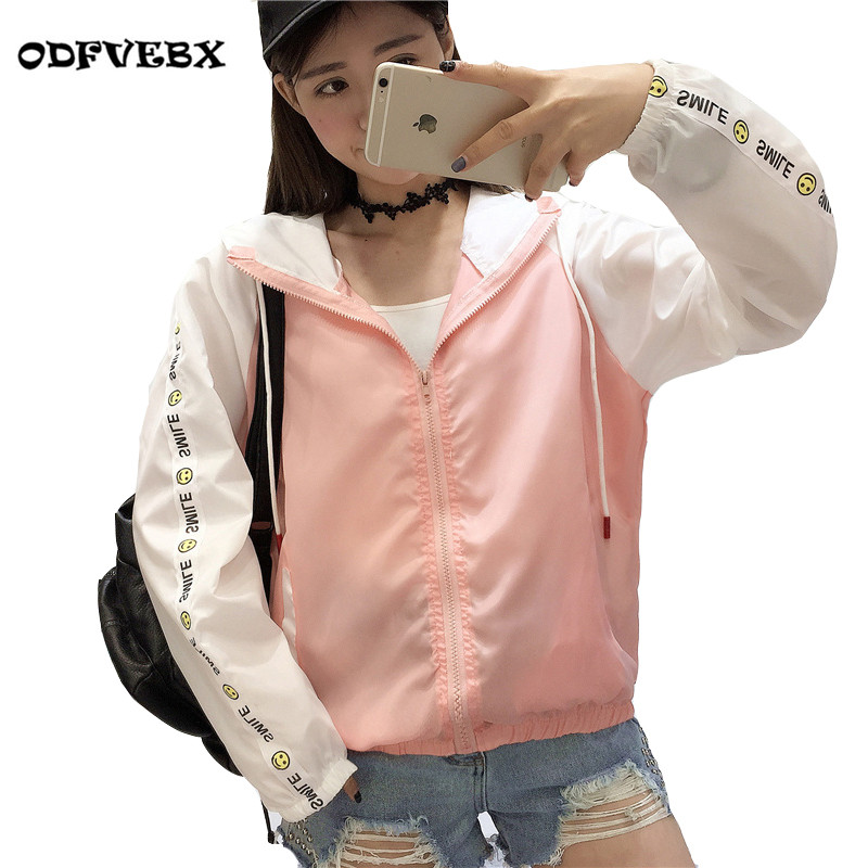 Jackets   Female 2019 New Fashion Bomber   Jacket   Women's Hooded   Basic     Jacket   Casual Thin Windbreaker Female Outwear Women Coat