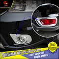 Car styling ABS Chrome fog light lamp trim For Dodge Journey JCUV 2013-2015 front and rear bumper fog lamp cover trim Decoration