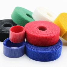 цена на 2yards/roll Color optional Cable tie Self Adhesive Fastener Tapes Cable Tie Adhesive Nylon Fastener Cable Tape Diy accessories