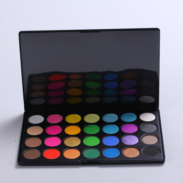 New Cosmetic 28 Earth Color Naked Eyeshadow Palette Facial beauty Makeup Shimmer Matte Pigment Eyeshadow Set