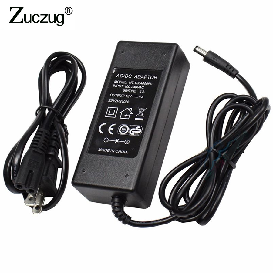 цена на Universal Power Adapter 12V 4A AC 110V-240V 220V to DC 12 V led driver Converter Transformer Power Supply Charger For LED Strip