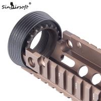 Staal M4 Delta Ring Set Voor M4/M16 Series Airsoft Aeg Tactische Drop In Rail Systeem Handguard OT0423 op