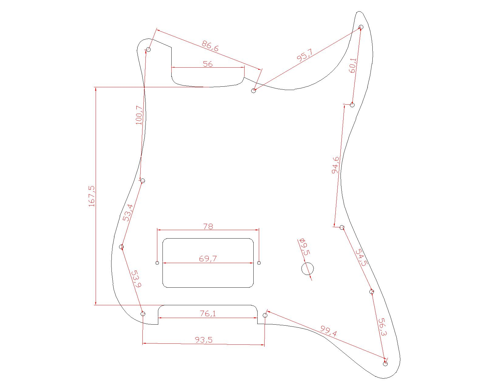 Dopro ST Strat One Humbucker Guitar Pickguard Scratch Plate Fend - Երաժշտական գործիքներ - Լուսանկար 2