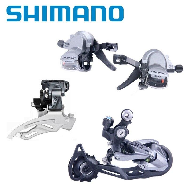 Bicycle Derailleurs Set SHIMANO ALIVIO M4000 9 27 Speed Shift Lever Rear Derailleurs M4000 T4000 Front