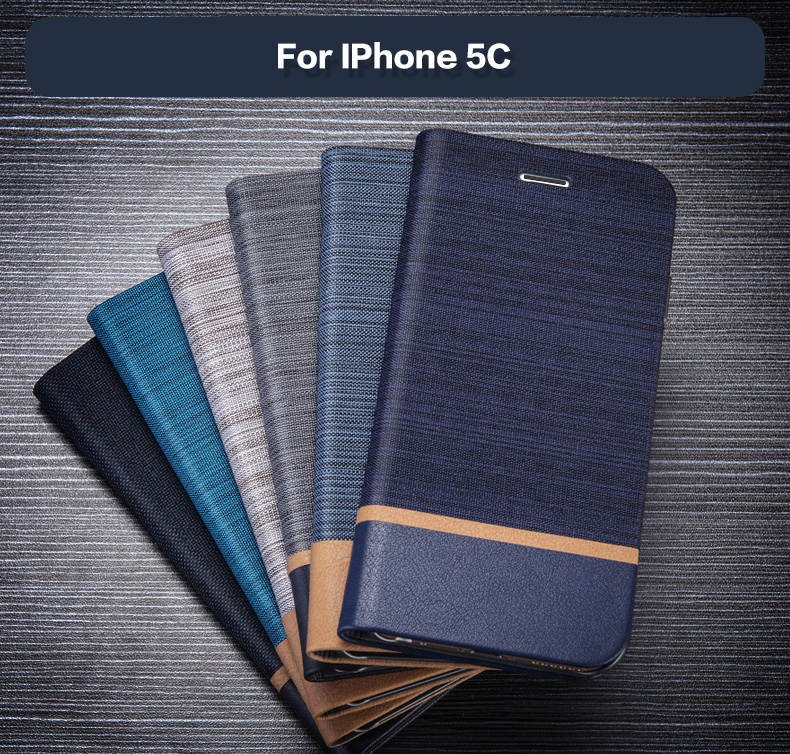 Pu Leather <font><b>Wallet</b></font> <font><b>Case</b></font> For <font><b>IPhone</b></font> <font><b>5C</b></font> Business Phone <font><b>Case</b></font> For <font><b>IPhone</b></font> <font><b>5C</b></font> Flip Book <font><b>Case</b></font> Soft Tpu Silicone Back Cover image