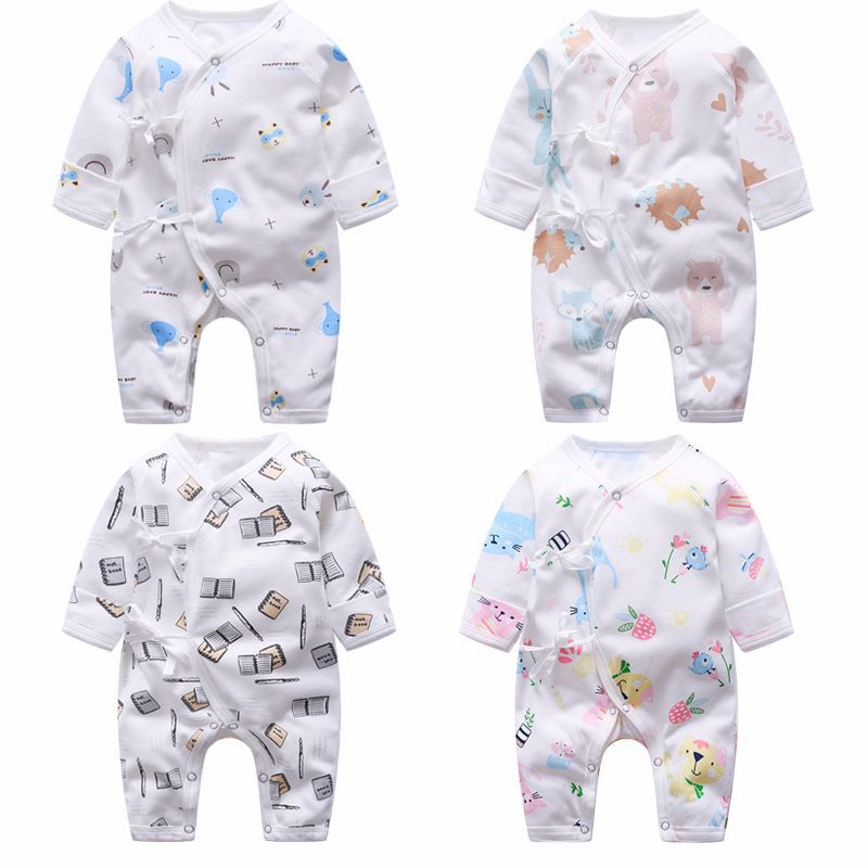 Newborn Toddler Baby Boys Girl   Rompers   clothes cotton Long sleeve Jumpsuit Autumn Clothes set 0-9M Infant Outfits