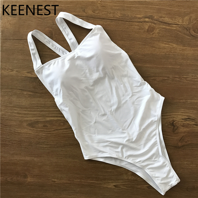 Keenest Sexy Solid Swimwear Female One Piece Sport Professional Swimsuit Women Bodysuit Bathing Suits by Keenest