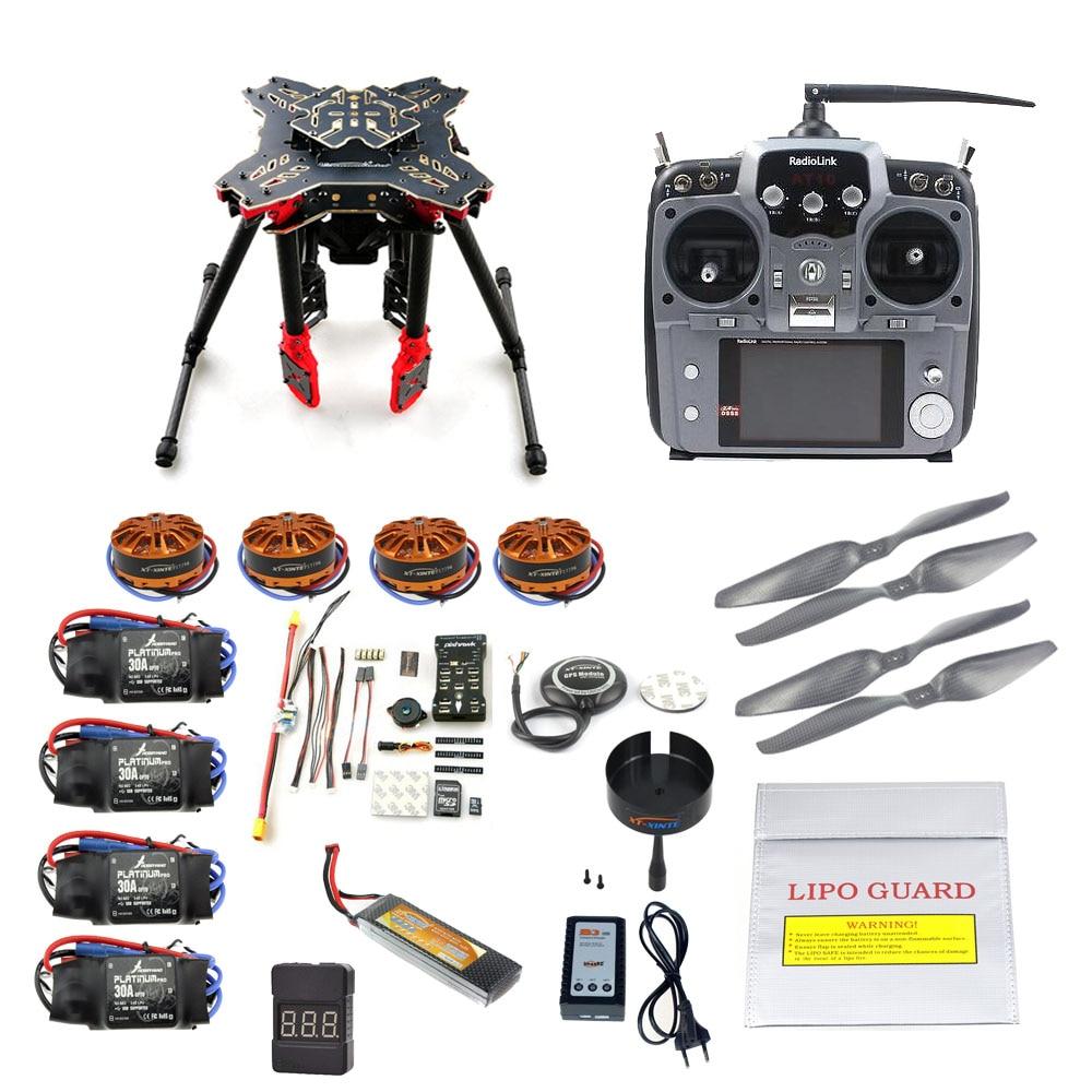 DIY HMF U580 Quadcopter GPS Foldable Landing RC Drone APM2.8 PX4 Flight Control 700KV Motor ESC Radiolink AT10 TX&RX F11066-GHIJ foldable rack rc quadcopter kit apm2 8 flight control board gps 1000kv brushless motor 10x4 7 propeller 30a esc f02015 g