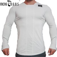 2017 New Arrive Mens T Shirts Fashion O Neck Casual Long Sleeve T Shirt Gradient Band