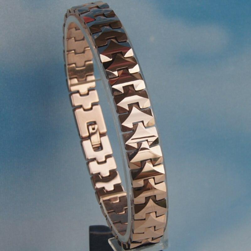 10mm 71.6g Men jewelry rose gold plating heavy hi-tech scratch proof tungsten bracelet