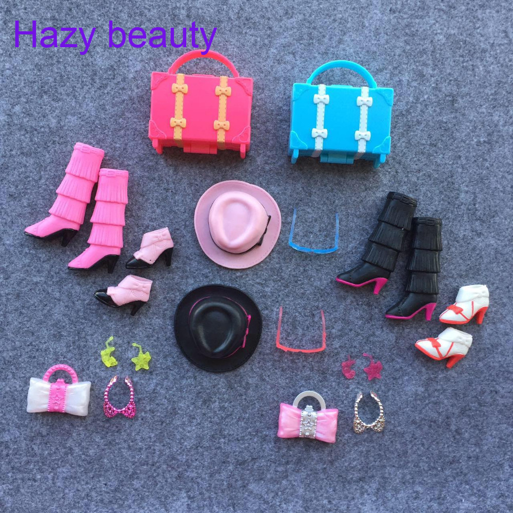 Hazy beauty Shoes boots sunglassess bags necklace earings for 1:6 licca barbie dolls LI008