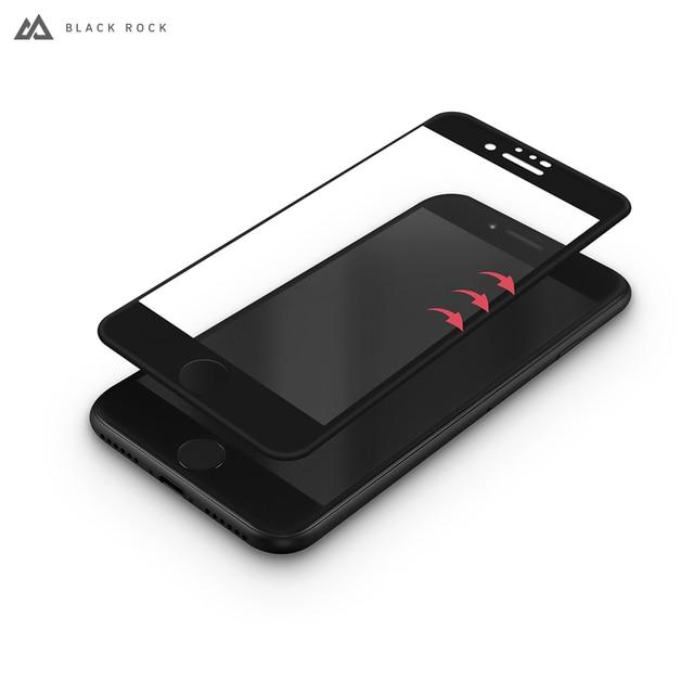 Защитное стекло Black Rock 3D SCHOTT (0,3 мм, 9Н) для iPhone 8/7/6/6S черная рамка
