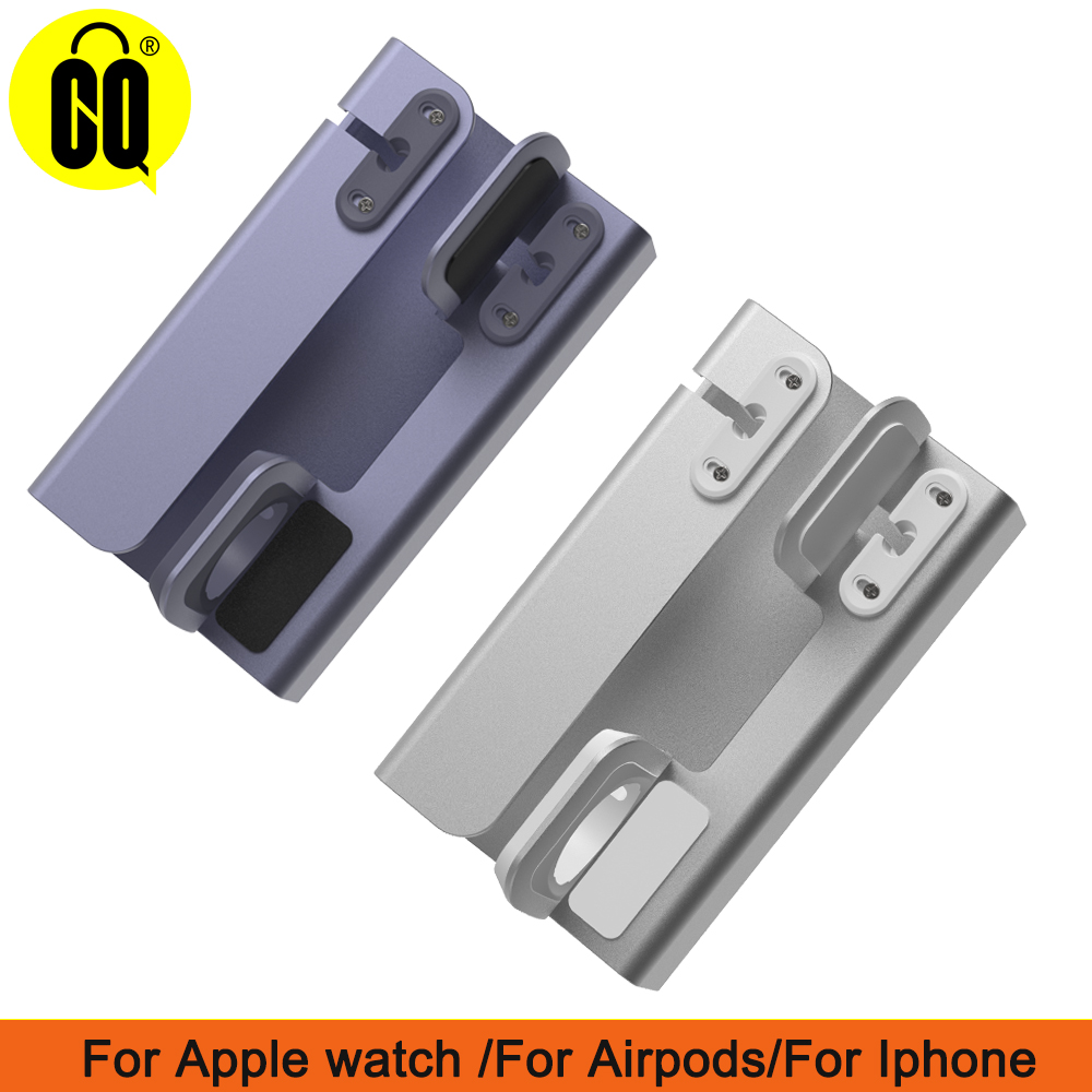 3 in 1 Charging Dock Holder For Iphone X XR MAX 8 7 6 5 Aluminum charging stand Dock Station For Apple watch Airpods in Phone Holders Stands from Cellphones Telecommunications