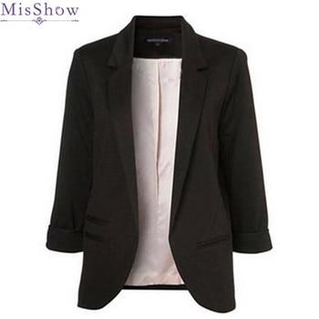 MisShow otoño mujeres 8 colores Slim Fit Blazer chaquetas tres ...