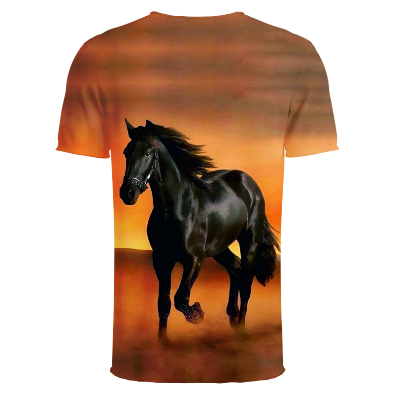 YOUTHUP Horse Printed T Shirt Men 39 s Fashion Summer Short Sleeve 3D Top Tees Unique Design Male Female 3d full pinted Top Tees in T Shirts from Men 39 s Clothing