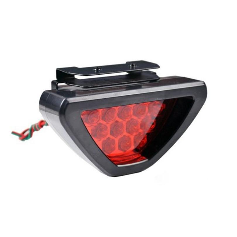 Universal F1 Style Car ATV SUV 12V LED Stop Fog Tail Brake Light Lamp Motorcycle lights