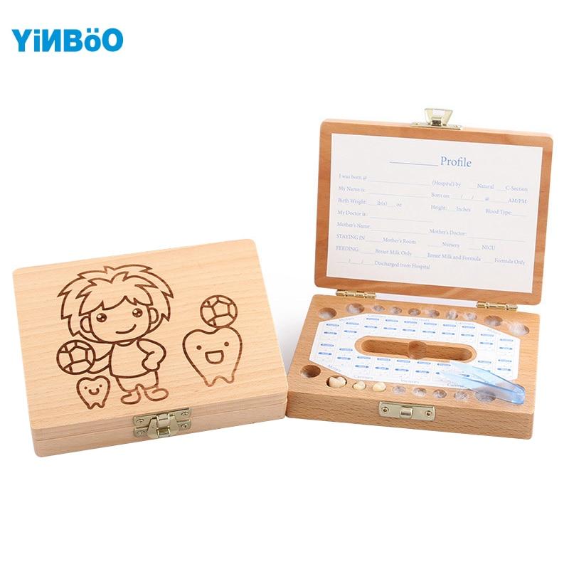 Зубы Коробка органайзер для ребенка сохранить молочные зубы деревянная коробка для хранения большие подарки 3-6 лет творческий для детей Об...