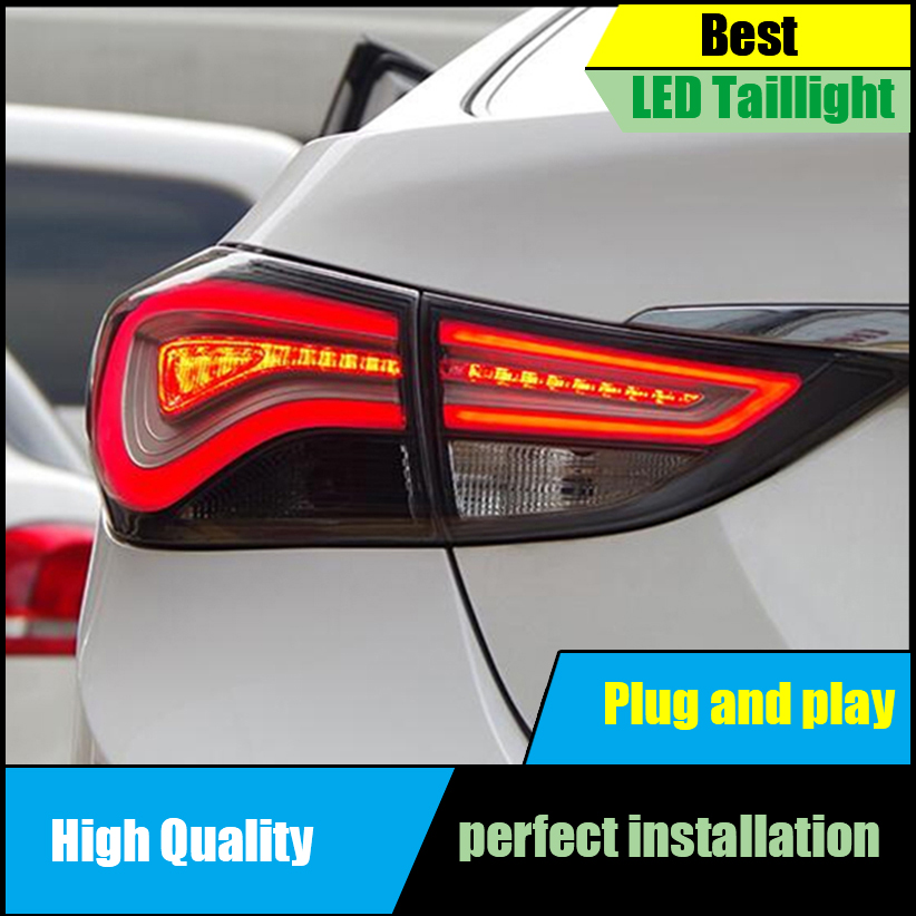 Car Styling Tail Lamps for Hyundai Elantra Tail Lights 2011-2015 LED Taillight Rear Lamp Driving+Brake+Park+Signal free shipping led tail lamps assy bm style light bar rear lamps tail lights fit for hyundai elantra 2012 2015