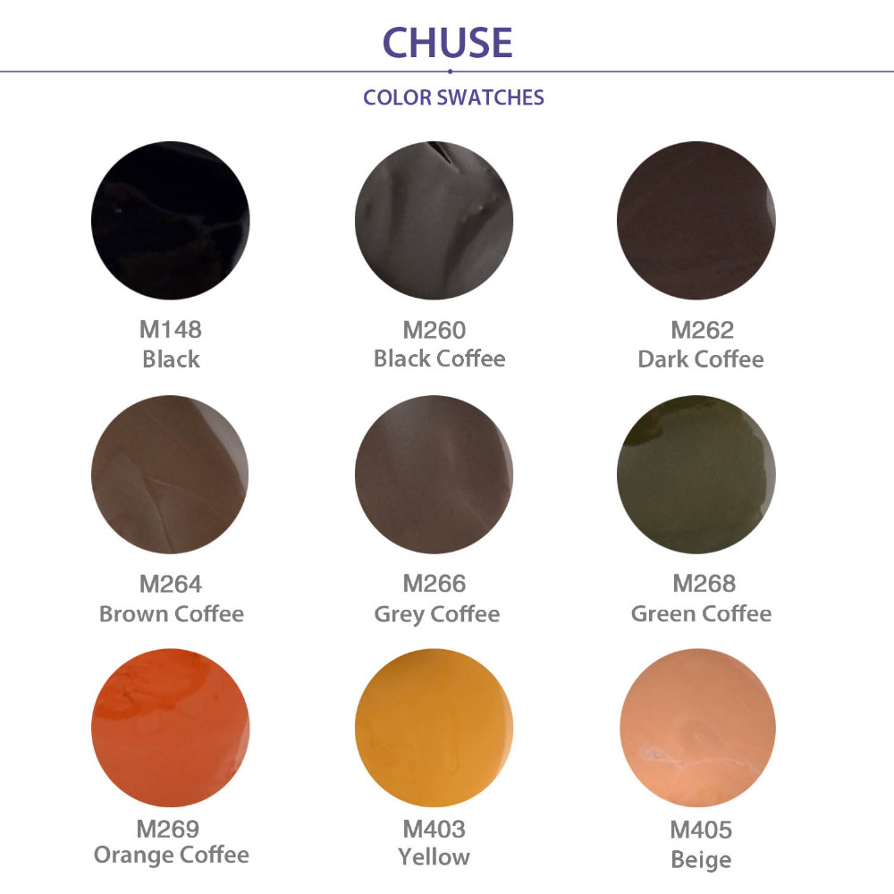 CHUSE Permanent Makeup Pigment Pro Brown Coffee Tattoo Ink Set For Eyebrow Lip Eyeliner Make Up Microblading Rotary Machine M264 9