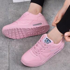 Image 3 - MWY baskets en cuir pour femmes, chaussures à plateforme, blanches, à la mode hiver chaussures décontractées