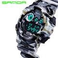 Estilo de Lujo de los hombres Reloj de Cuarzo Analógico Digital Hombres G Reloj de Manera Impermeable Relojes Deportivos Militar 2016 Nueva Marca SANDA