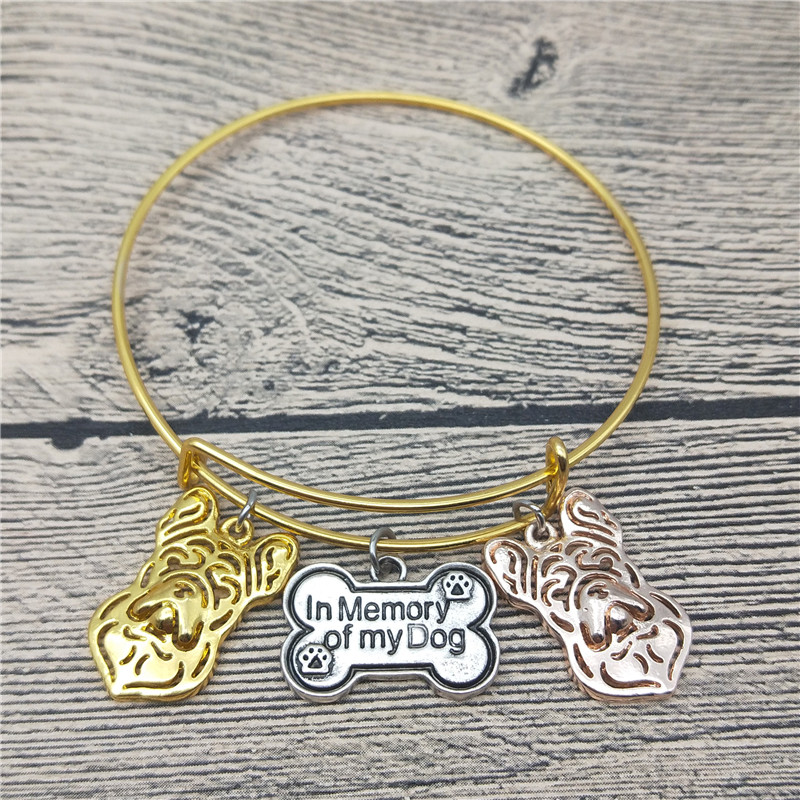 Trendy New French Bulldog Bangles Cute French Bulldog Dog Bangles Bracelets Fashion Animal Pet Jewellery