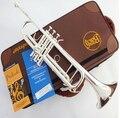 Высокое качество Бах Труба подлинный Двумя посеребренными TR-190GS си-бемоль профессиональный Trompete музыкальные инструменты Brass bugle