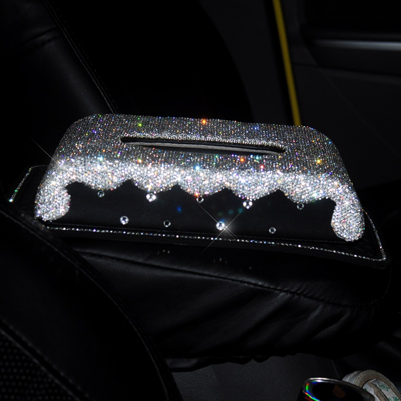 carro viseira tipo glitter diamante tecido caixa