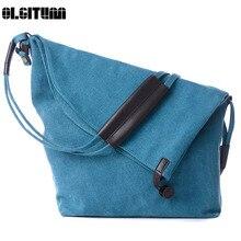 OLGITUM 2017 Mode Leinwand Umhängetasche Frauen Handtasche Messenger Crossbody Taschen Satchel Einfarbig Lässig Trage Großhandel HB075