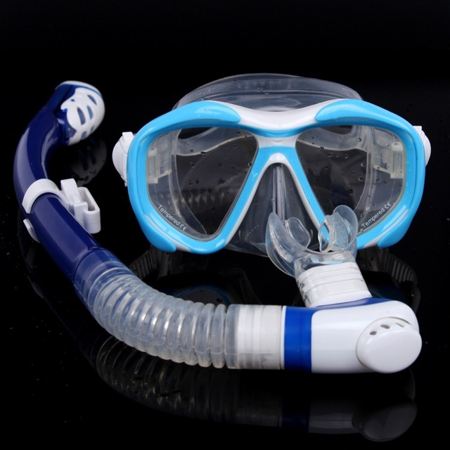 Fsnorkeling equipment diving mask snorkel set professional spearfishing gear Scuba Diving Equipment Dive Mask + Dry Snorkel Set