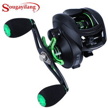 Sougayilang مكافحة التآكل Baitcasting بكرة 8.1: 1 عالية السرعة 12   1BB الصيد بكرة عجلة المياه العذبة المياه المالحة الصيد معالجة