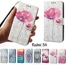 Flowers Flip Leather Case for Xiaomi Red