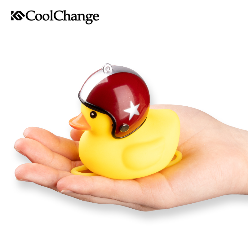 Coolchange Bicycle Bell Broken Wind Duck Mtb Road Bike Moto Riding Light Cycling Accessories Small Yellow Duck Helmet Child Horn
