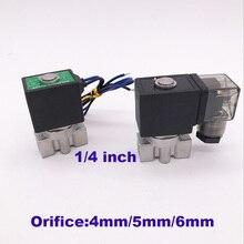 """GOGO 2 way SUS304 водяной клапан нормально закрытый Порты и разъёмы G1/"""" 12 V 24V DC отверстия 4 мм/5 мм/6 мм SPU-04/05/06 низкого давления Электромагнитный Клапан"""