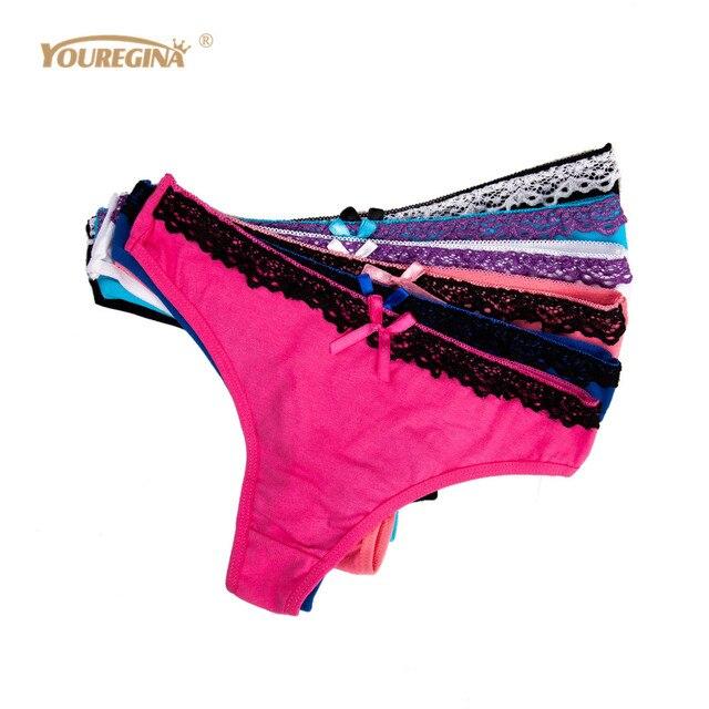 cd7914e01 YOUREGINA Seamless Underwear Women s Panties Women s Briefs Thongs Female G  String Sexy Lace Strings Knickers 6pcs lot