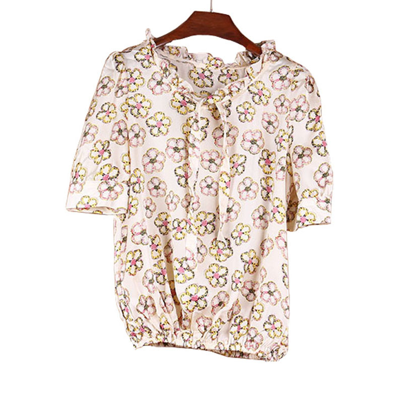 2018 New Flower Printing Women Blouses Shirt Loose Casual Women Chiffon Shirt Fashion Women Tops Blusas