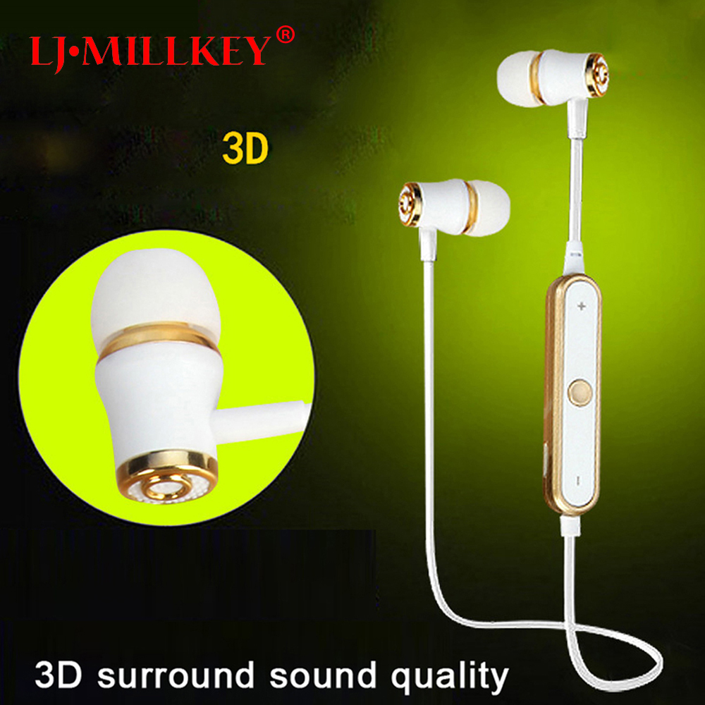 S6 Sports Wireless Bluetooth Earphone Fone De Ouvido Stereo Bluetooth Headset Earbuds Noise Cancelling for Jog  LJ-MILLKEY LZ001 ttlife mini bluetooth earphone usb car charger dock wireless car headphones bluetooth headset for iphone airpod fone de ouvido
