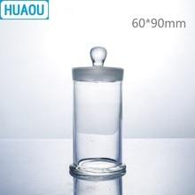 HUAOU 60*90 мм образец баночка с ручкой и заземленной стеклянной пробкой медицинский формальдегид дисплей бутылка