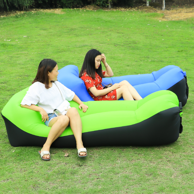 Fast Inflatable Camping Sleep Bed Air Sofa Beach Bed Banana Chair Lounger Air Bed Lazy Sofa Sleeping Lazy Bag Outdoor Furniture