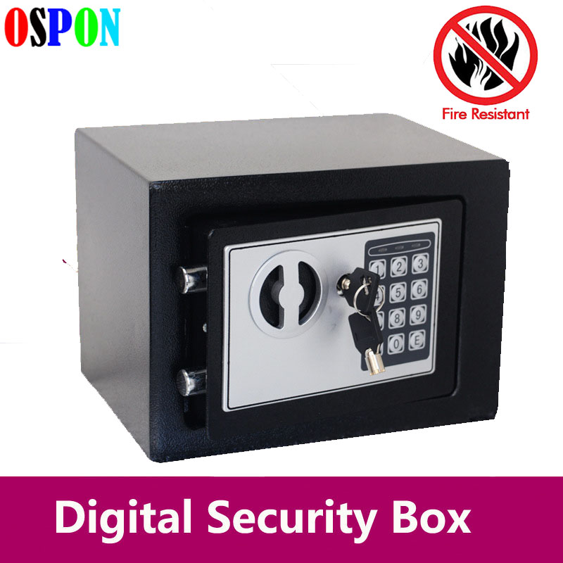 Digital Safe Box Small Household Mini Steel Safes Money Bank Safety Security Box Keep Cash Jewelry Or Document Securely With Key el izi okumali silah kasası