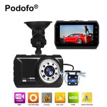 Podofo 3.0 дюймов Видеорегистраторы для автомобилей Камера видео Регистраторы с реверсивным Камера Full HD 1080 P DVRs G-Сенсор dashcam ИК Ночное видение blackbox
