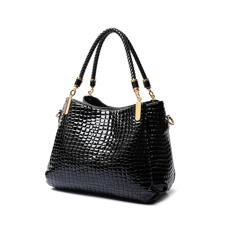 Designer Composite Bag Women Three Piece Suit Luxury Layered font b Handbag b font Classy Crocodile
