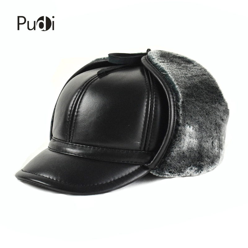 571edfab1d2 Detail Feedback Questions about HL166 F Hat men s Genuine leather baseball  cap hat men s winter brand new cow skin leather hats caps black with Faux  fur ...
